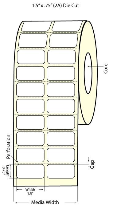 "Labels for Epson TM-C3500 Printer 2/"" Continuous Label Rolls 100 ft Matte Blan..."