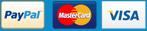 Paypal, Mastercard and Visa Logo