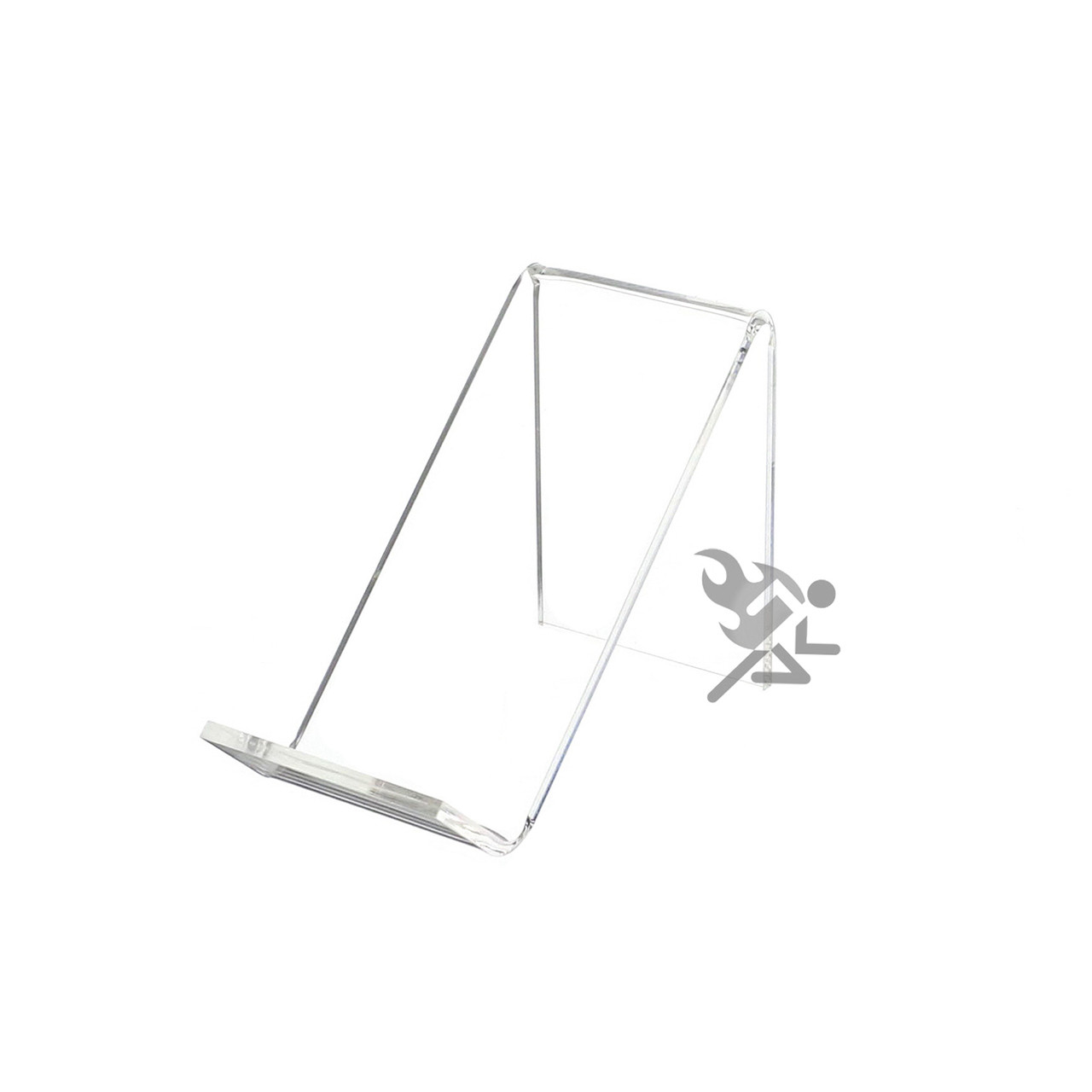 Clear Acrylic Easel Display Stand Picture Frame Plaque Book Sign Business Card