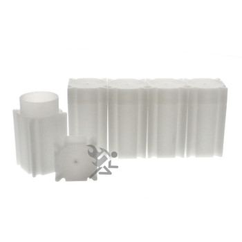 COINSAFE 25 LARGE DOLLAR SIZE SQUARE Coin Tubes in Heavy Duty Storage Box