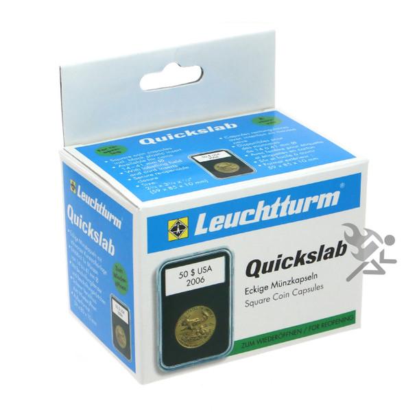 Lighthouse Quickslab 16mm Coin Capsule Slab 1/10oz Eagles Leaf 5 Pack