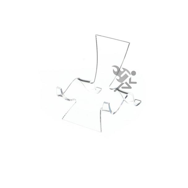 "2-5/8"" Clear Acrylic High Back Cradle Display Stand Easel w/ Deep Shelf"