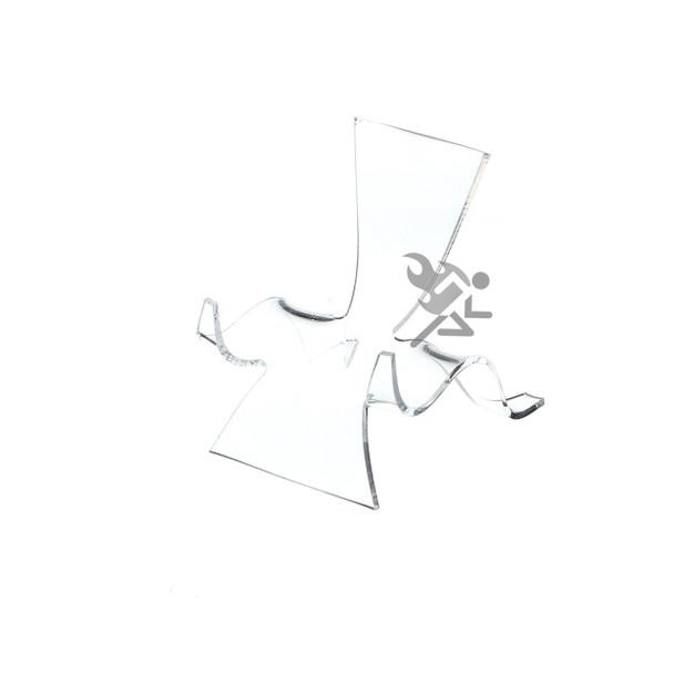 "3-1/2"" Clear Acrylic High Back Cradle Display Stand Easel w/ Deep Shelf"