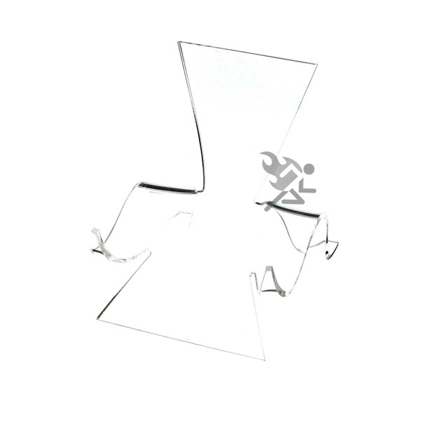 "4-5/8"" Clear Acrylic High Back Cradle Display Stand Easel w/ Deep Shelf"