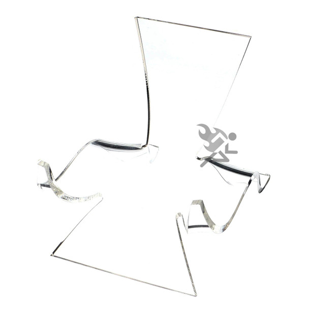 "5-1/8"" Clear Acrylic High Back Cradle Display Stand Easel w/ Deep Shelf"