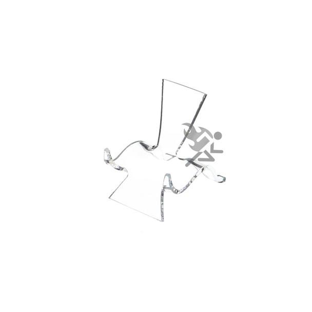 "2"" Clear Acrylic High Back Cradle Display Stand Easel w/ Deep Shelf"