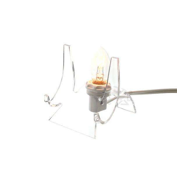 "Acrylic Lighted Display Stand Cradle 3"" High Back-lit Display"