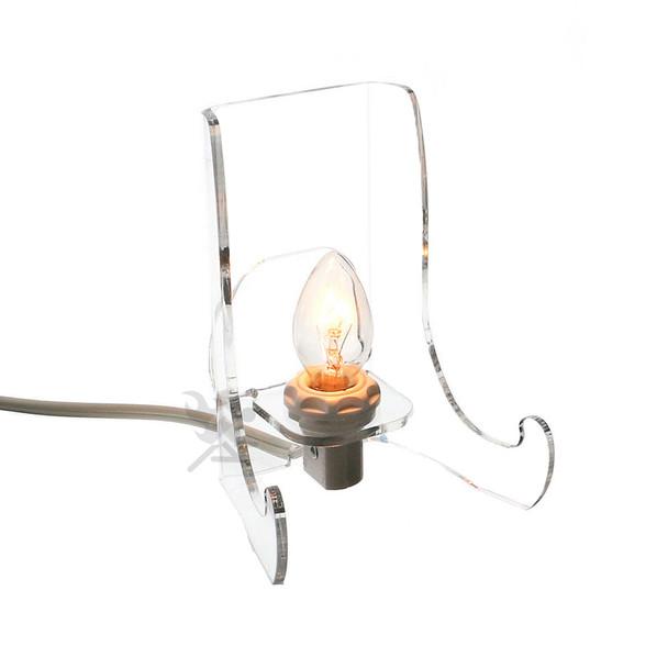 "Acrylic Lighted Display Stand Easel 4-1/2"" High Back-lit Display"