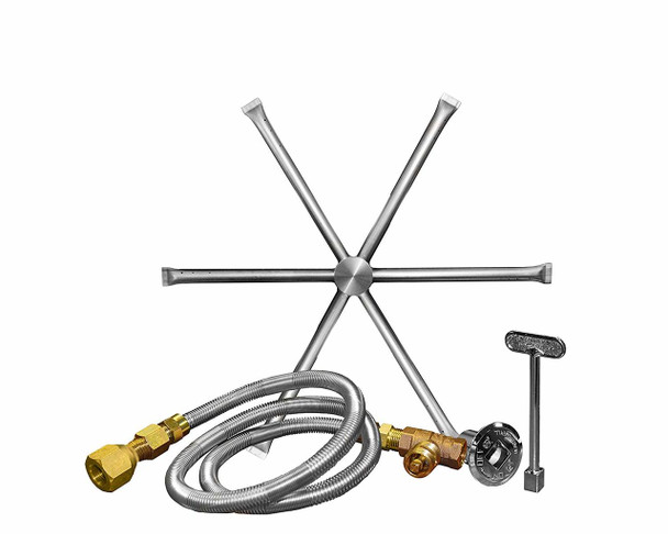 Firegear Stainless Steel Burner Kit for Outdoor Fire-pit