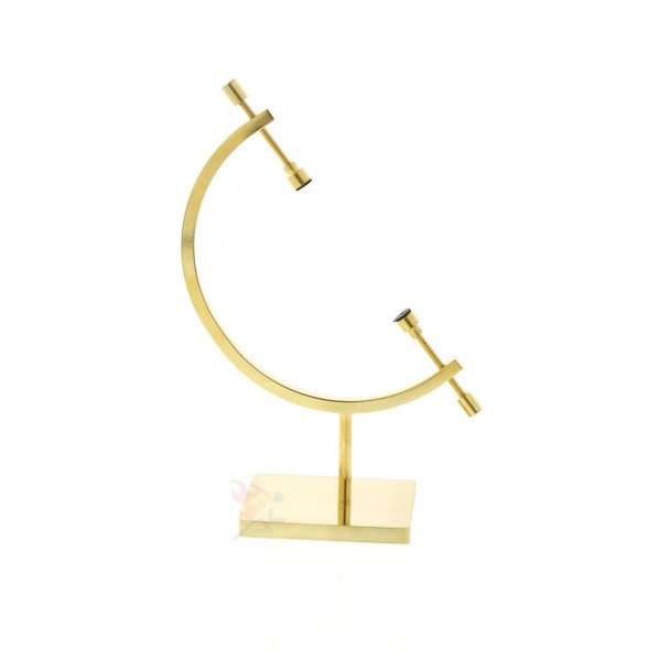 Gold Toned Sphere Holder Caliper Display Stand