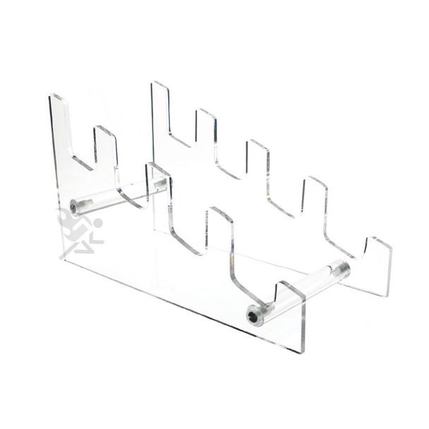 Acrylic 4 Tier Plate Rack Easel, Multiple Plate, Book, Frame, Knife Holder