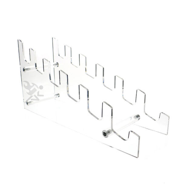 Multiple Tier Acrylic Plate Rack Display Stand, Holds 6 Plates