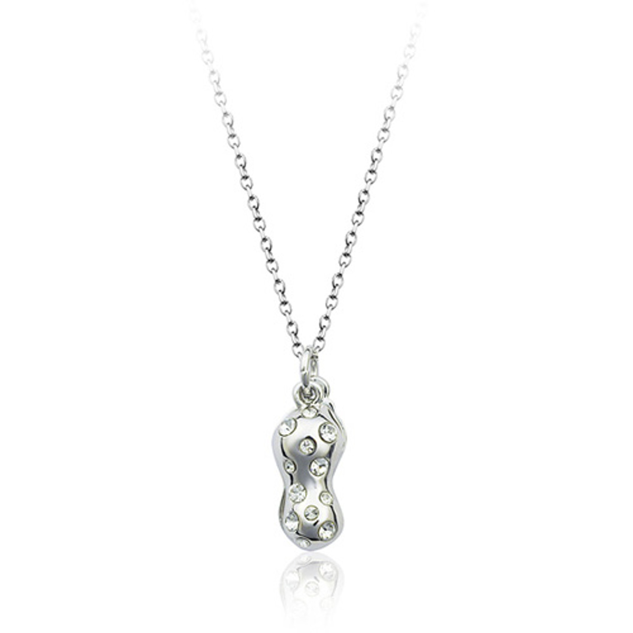 64035e632 18K Gold Plated Genuine Peanut Cubic Zirconia Necklace