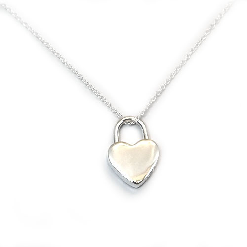 925 Sterling Silver Heart Pendant Necklace, 18 Inch Chain!