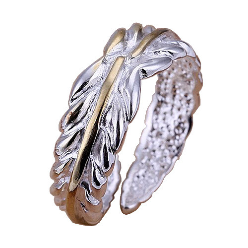 Feathered 925 Sterling Silver Adjustable Thumb Ring