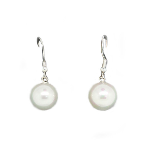 925 Sterling Silver With Dangling Pearl Accent Earrings