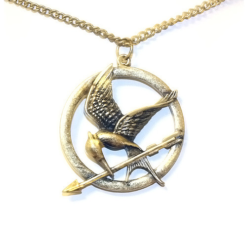 Beautiful Antique Hunger Games Mocking Jay Pendant Sweater Necklace for Women
