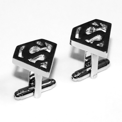 Chrome Superman Stainless Steel Cuff Links
