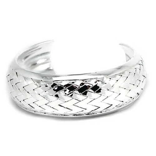 925 Sterling Silver Basket Weave Bangle