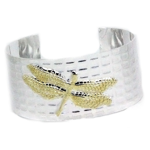 925 Sterling Silver Dragonfly Cuff