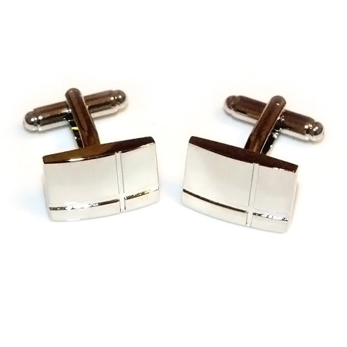 Polished Deep-etched Cross Stainless Steel Cufflinks