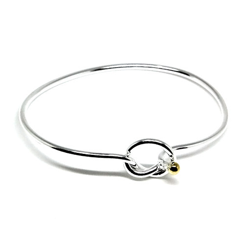 925 Sterling Silver Wire Knot Bangle