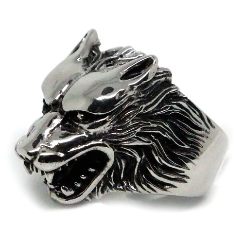 Wolf's Head Stainless Steel Ring