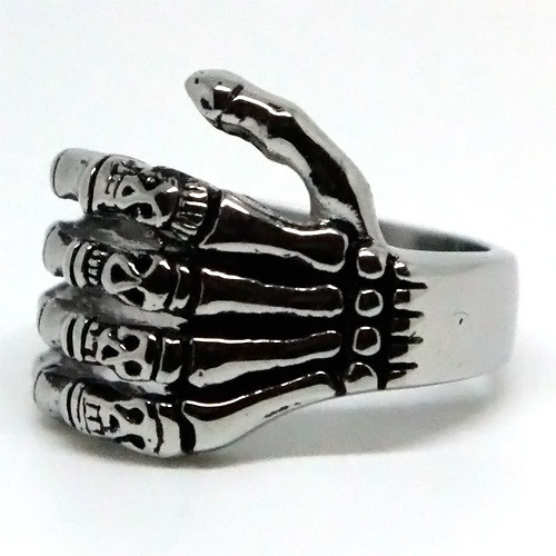 Skeleton's Left Hand Stainless Steel Ring