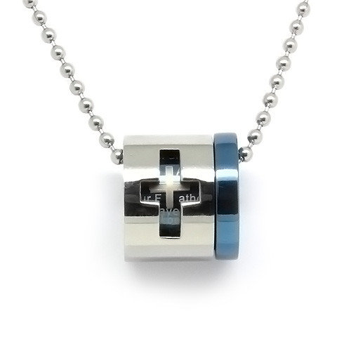 Stainless Steel 2 Piece Cross Pendant Necklace, High End Design