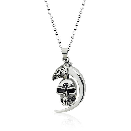Top Value Jewelry- Stainless Steel Claw and Skull Pendant