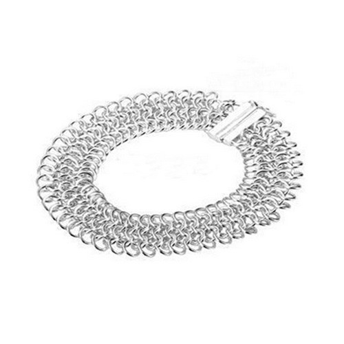925 Sterling Silver Chain-Mail Bracelet