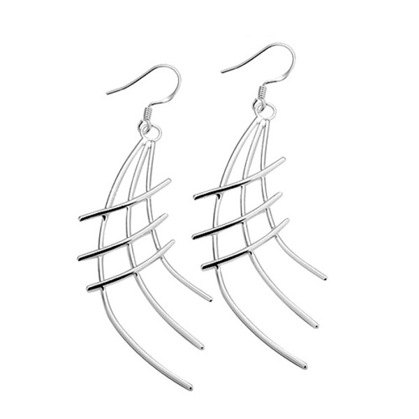 925 Sterling Silver Crosshatch Earrings