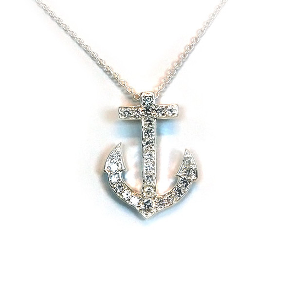 925 Sterling Silver Anchor Pendant necklace, Free 18 Inch Chain