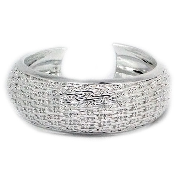 925 Sterling Silver Chain Mail Bangle