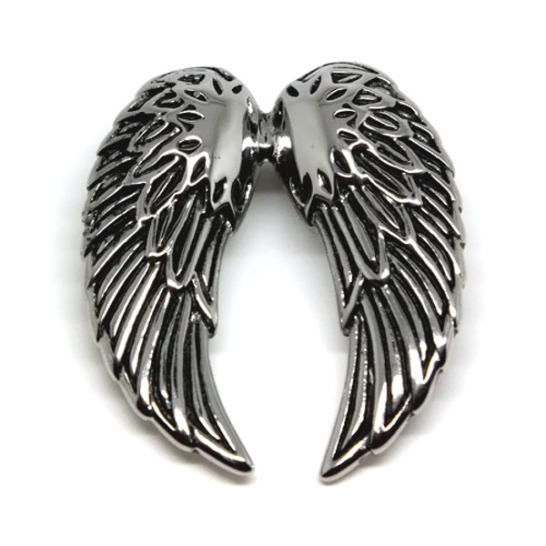 Stainless Steel Large Angel Wings Pendant Necklace, 600MM Chain
