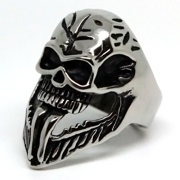 Spiderman's Venom Skull Stainless Steel Ring