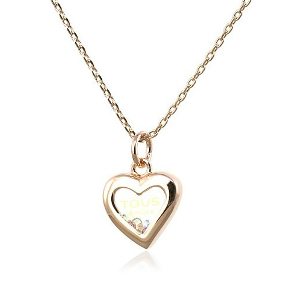Very Romantic Heart Pendant Necklace for Women with Crystal Accents