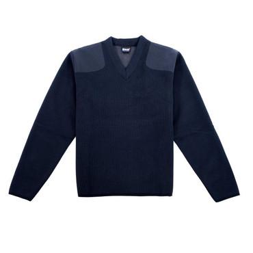 Blauer Fleece-Lined V-Neck Sweater (Dark Navy)