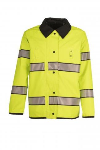 Spiewak VizGuard Reversible Duty Raincoat (Black with Hi-Vis Yellow)