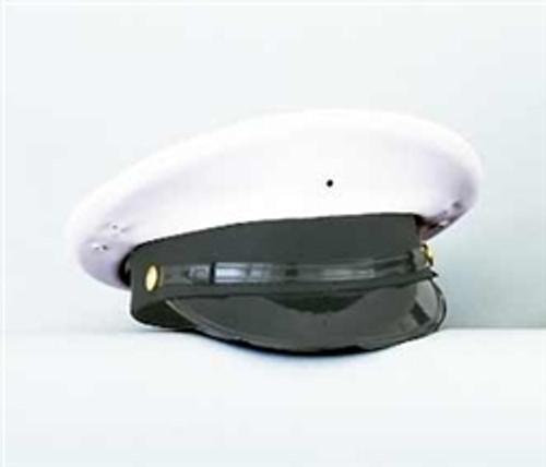 White Round Hat