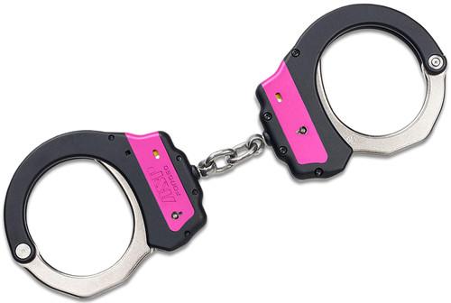 ASP Ultra Cuffs Chain Identifier (Steel) Pink