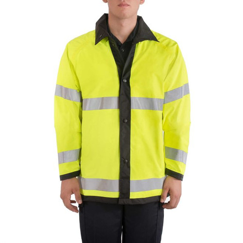 Blauer Reversible Rain Jacket (Black with Hi-Vis Yellow)