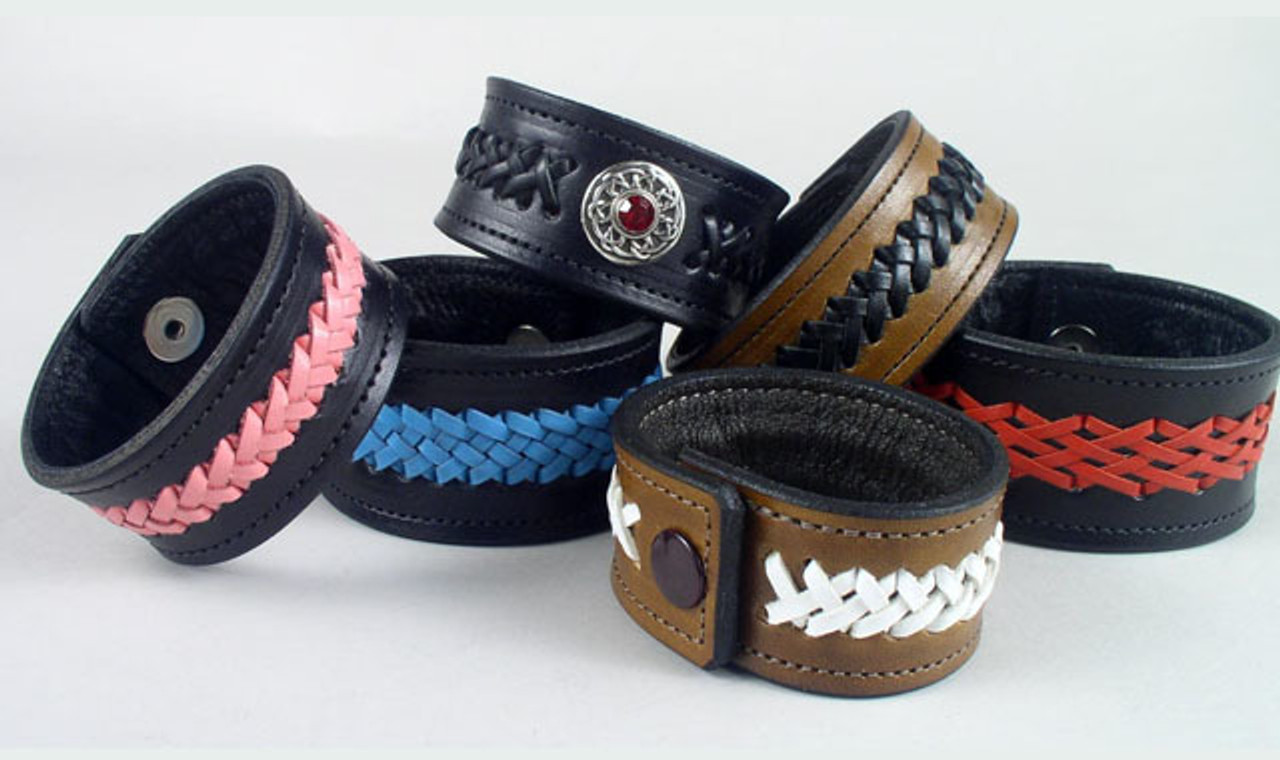 Leather Braided Bracelets Wristbands