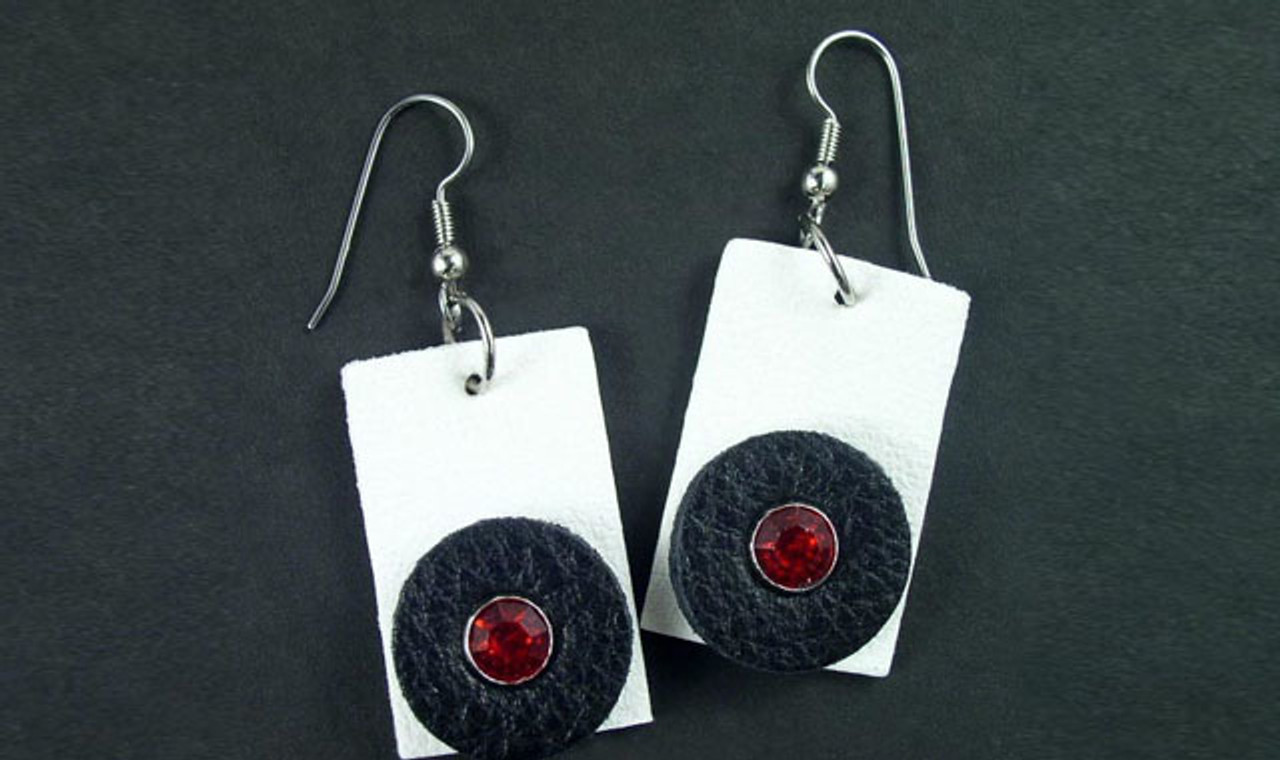 Leather Jewelry Earrings Pendants