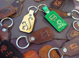 Homemade DIY Leather Keychains
