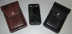 Custom Leather iPhone Case & Smartphone Case Handmade