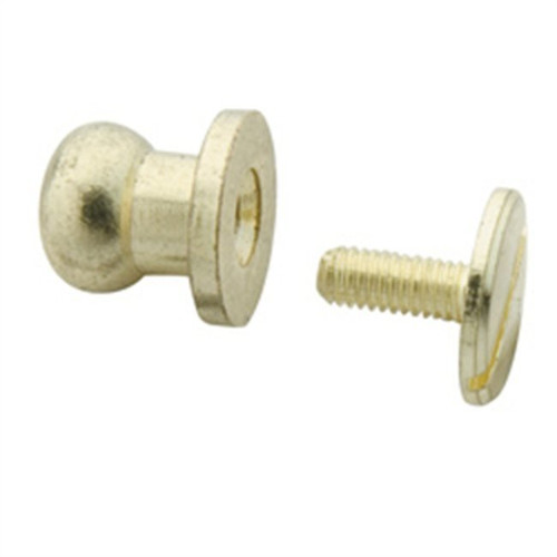 Button Stud Solid Brass 8mm Knob