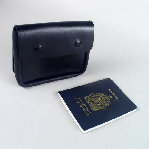 Easily fit up to 5 passport books in this passport belt pouch.