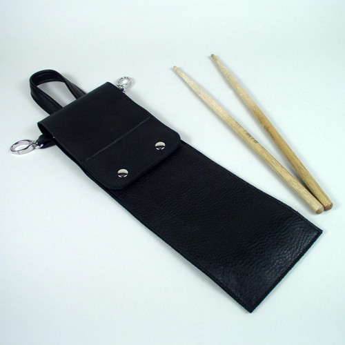 Small Plain Leather Drumstick Bag