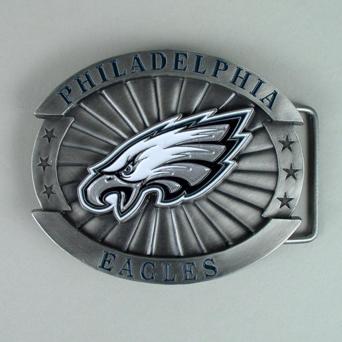 Philadelphia Eagles Belt Buckle Fits 1 1/2 Inch Wide Belt.